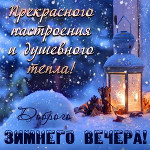 Картинка с пожеланием доброго зимнего вечера