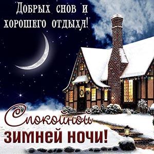 Спокойной зимней ночи, добрых снов и хорошего отдыха