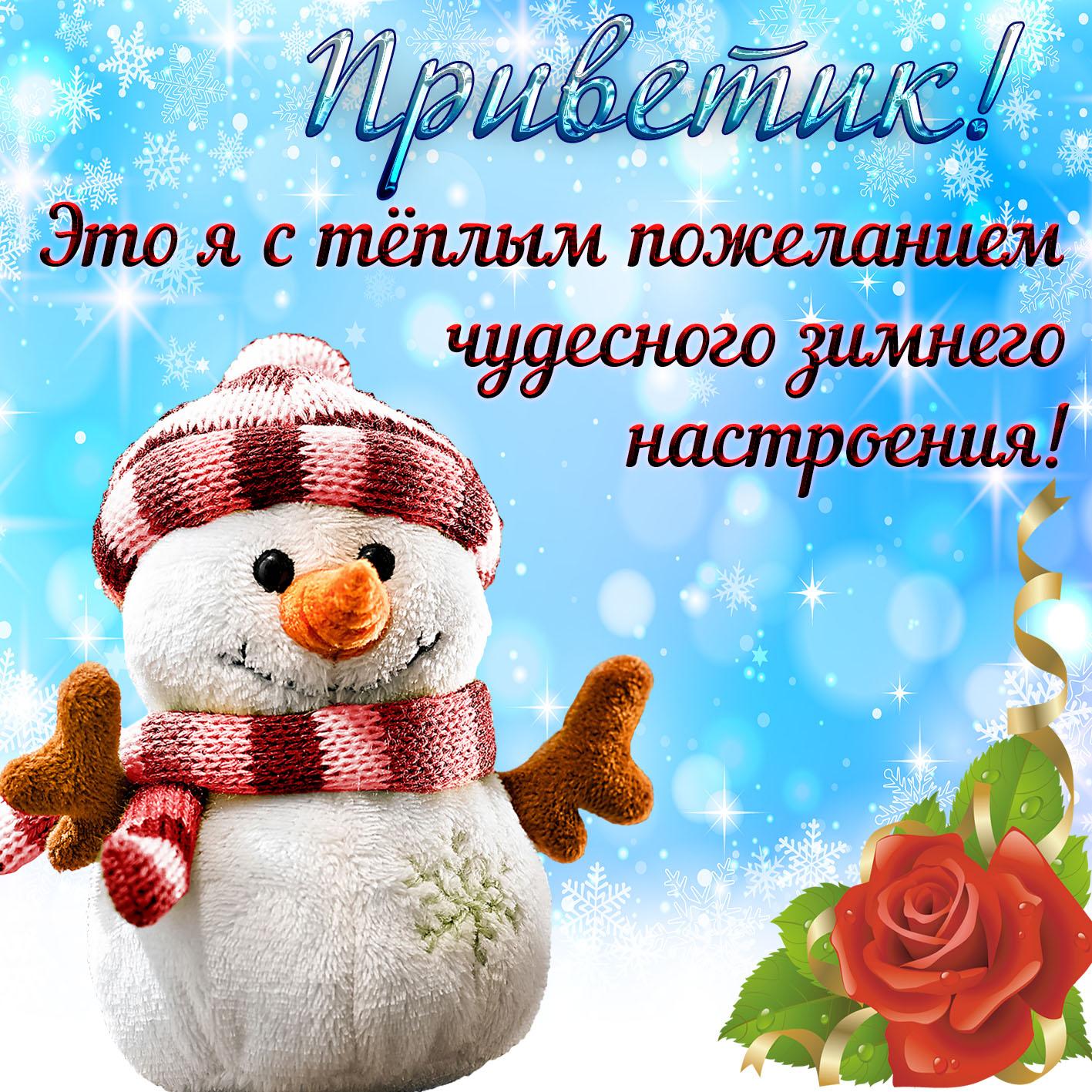 Открытка чудесный зимний день